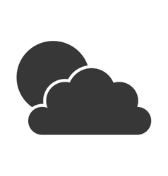 sun cloud weather icon graphic vector image