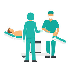 Surgery operation icon flat style vector