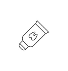 tooth paste tube line icon vector image