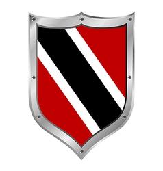Trinidad and Tobago flag button vector
