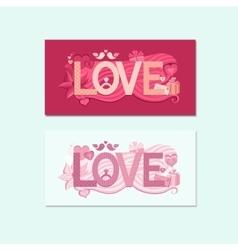 Typography Valentines Day vector