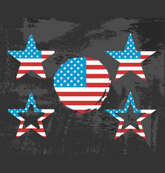 Usa flag on black background vector