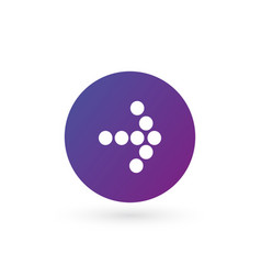 white right dotted arrow in purple gradient vector image