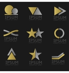 Abstract logo set vector image