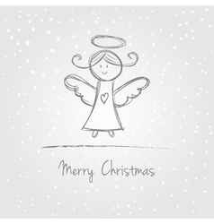 Christmas angel doodle vector