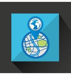 Mobile device globe gps map vector