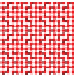 Red-white tablecloth pattern vector image