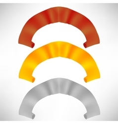 Set of Colorful Paper Scrolls Colored Ribbons vector image vector image