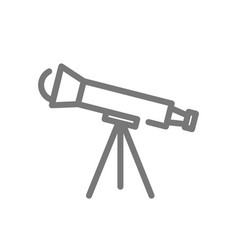 simple telescope line icon symbol and sign vector image vector image