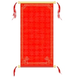 Asian scroll red and gold ornaments vector image vector image
