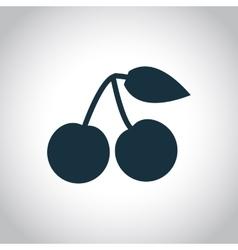 Cherry black simple icon vector image