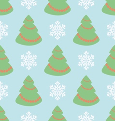 Christmas seamless pattern with Christmas t vector image vector image