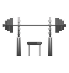 gym or fitness sport club chest press machine vector image vector image