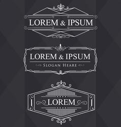 luxury flourishes calligraphic elegant ornament vector image vector image