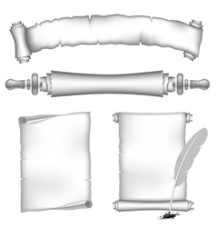 scroll papers set vector image vector image