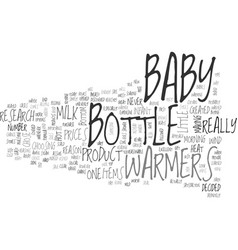 Baby bottle warmers text word cloud concept vector