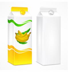 banana juice package vector image
