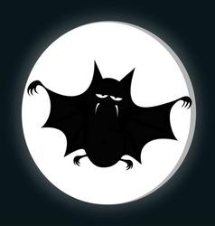 Funny freaky bat vector image