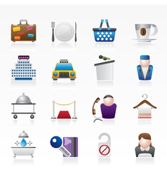 Hotel and motel services icons vector image vector image