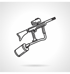 Paintball marker black line icon vector image