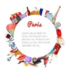 Paris Round Composition vector image vector image