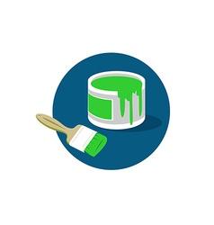 Brush paint bucket logo vector image