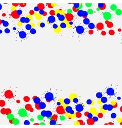 Color drop ink splatter vector