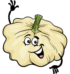 funny patison vegetable cartoon vector image vector image