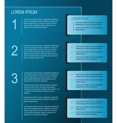 Paper infographics design in blue vector image