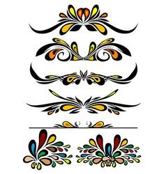 Retro Ornament Set vector image