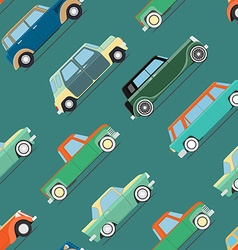 Wallpaper of set vintage cars vector