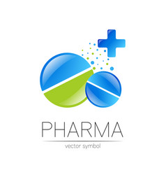 2 pharmacy symbol with cross for pharmacist vector