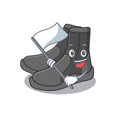 A brave dive booties mascot character design vector