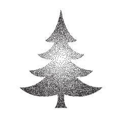 abstract polka-dot stipple Christmas vector image