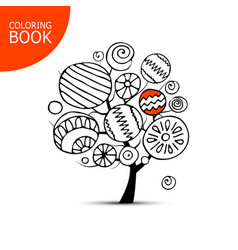 abstract tree with circles sketch for your vector image vector image