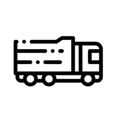 Agricultural big cargo truck thin line icon vector