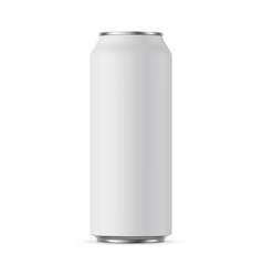 aluminium can mockup 500 ml vector image