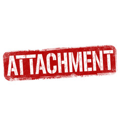 Attachment sign or stamp vector