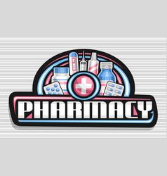Banner for pharmacy vector