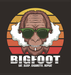Bigfoot cigarette retro vector