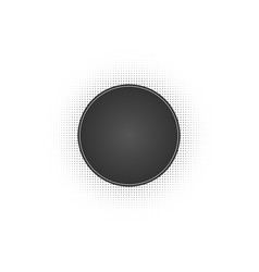 black abstract circle frame halftone dots logo vector image