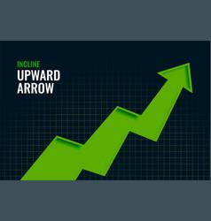 Business incline growth upward arrow trend vector