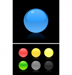 button on the black vector image