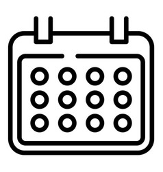 Calendar with rounded corners icon outline style vector