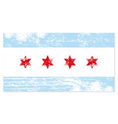 chicago flag shabby retro style stylish vector image