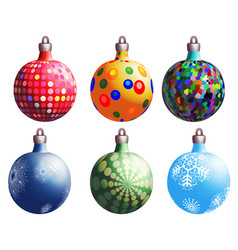 christmas balls variants vector image