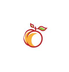 creative peach orange logo vector image