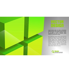 Cube layout green vector