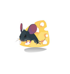 Digital funny comic cartoon mouse vector