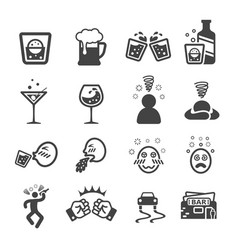 Drunken icon vector
